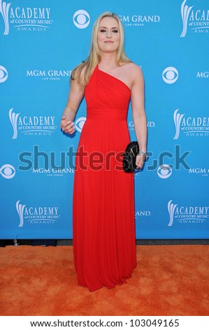 Lindsay Vonn at the 45th Academy of Country Music Awards Arrivals, MGM Grand Garden Arena, Las Vegas, NV. 04-18-10