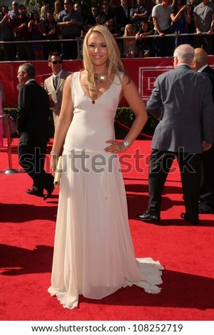 Lindsey Vonn at the 2012 ESPY Awards Arrivals, Nokia Theatre, Los Angeles, CA 07-11-12 - stock photo