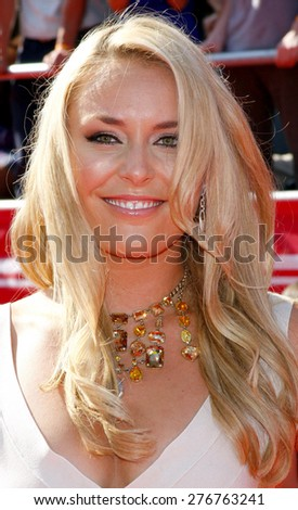 Lindsey Vonn at the 2012 ESPY Awards held at the Nokia Theatre L.A. Live in Los Angeles on July 11, 2012.  - stock photo