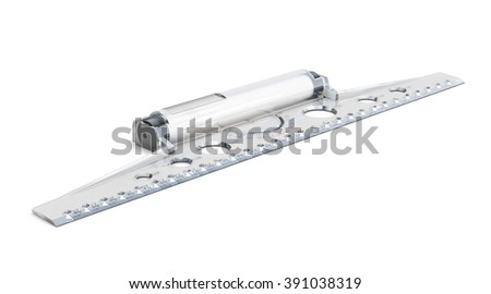 Line drawing isolated on white background. 3d rendering. - stock photo