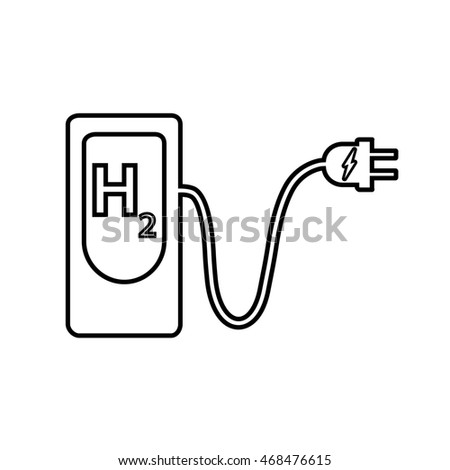 Hydrogen Filling Station Icon Hydrogen Fuel Stock Vector ...