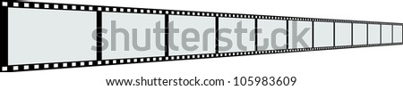 Line of film strip. - stock photo