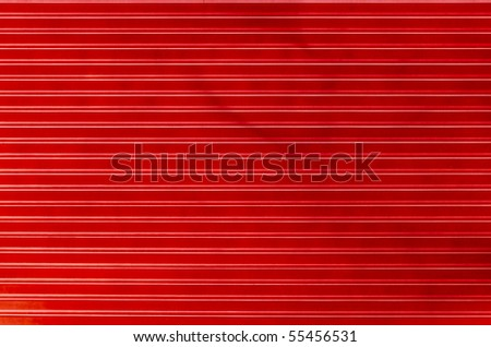 Line of old metal plate - stock photo