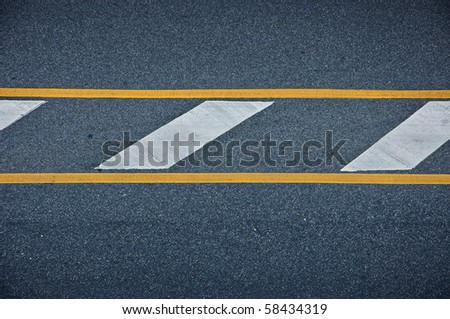 Line on street - stock photo