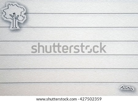 line paper note - stock photo