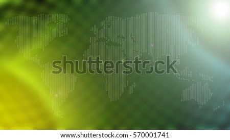 line white world map with abstract background.