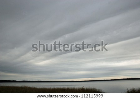linear clouds - stock photo