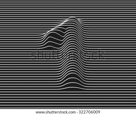 linear 3d font number 1 - stock photo