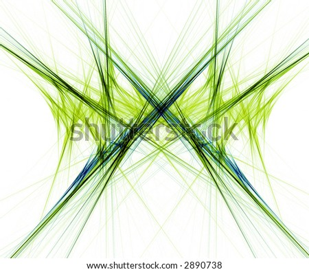 Linear Fractal set on a white background