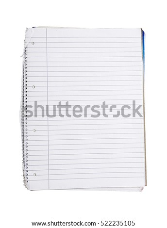 lined empty note book with ring binder