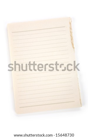 Lined Note Paper for background