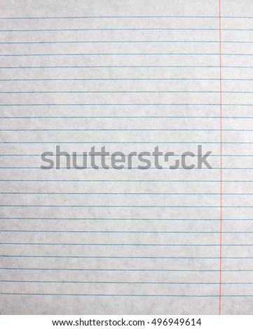 Lined Paper Sheet Blank Template Notebook Stock Photo (Royalty Free ...