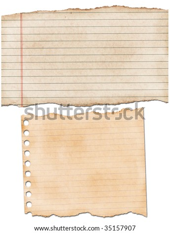 lined ruled grunge textured paper - stock photo
