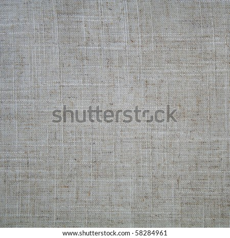 Linen beige fabric can use as background - stock photo