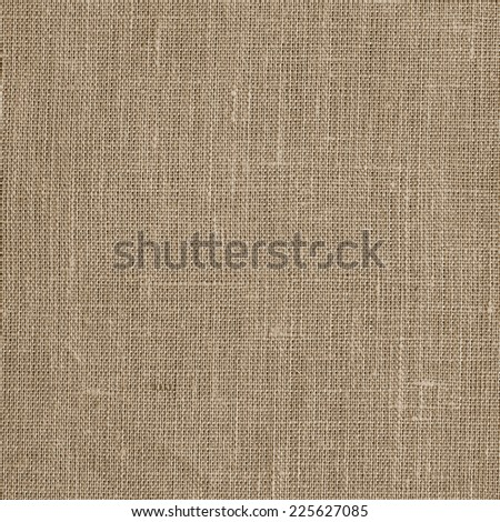 Linen coarse natural woven canvas fabric texture for the background - stock photo