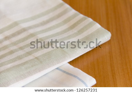 linen napkins - stock photo