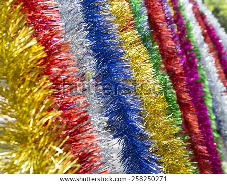 Lines and colors New Year - stock photo