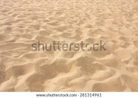 Lines in the sand of a beach - stock photo