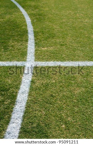 Lines of a Soccer Field for sport background
