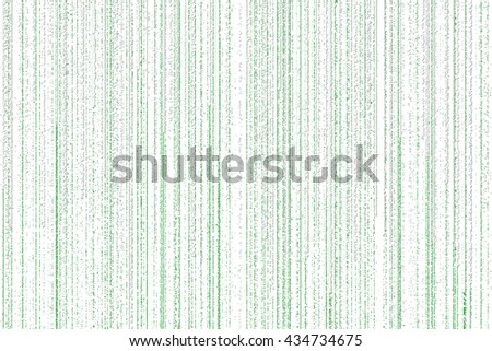 lines of green white matrix falling on the white background - stock photo