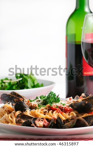 with mussels and linguini with fresh basil linguini with fresh basil ...