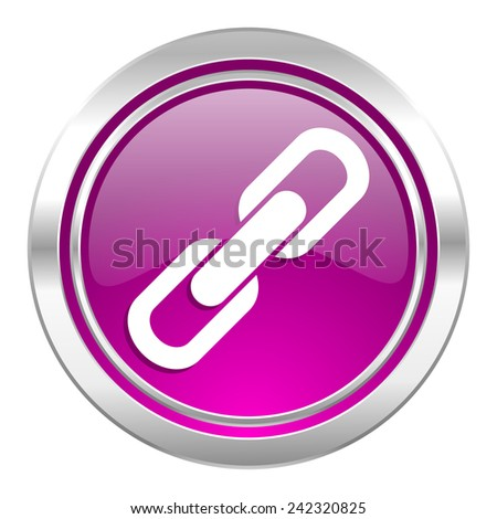 link violet icon chain sign  - stock photo