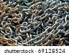 Links of a metal chain - stock photo