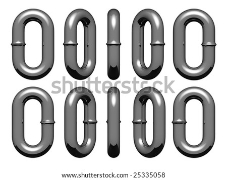Links of chain in all possible vertical positions for design work - stock photo