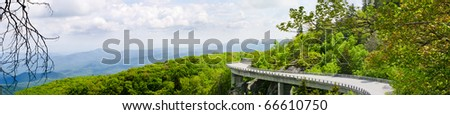 Linn Cove Viaduct - stock photo