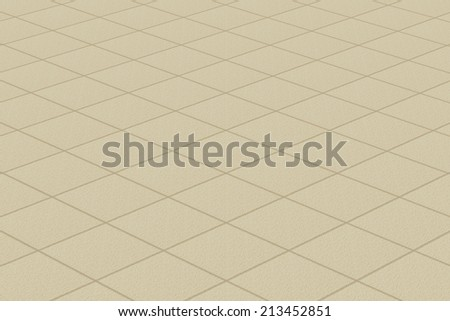 Linoleum/carpet with plaid fine texture, horizontal layout perspective. - stock photo