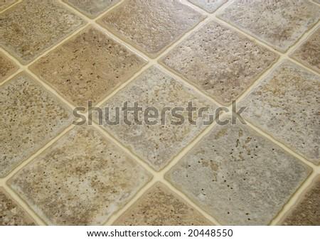 Linoleum floor tile - stock photo