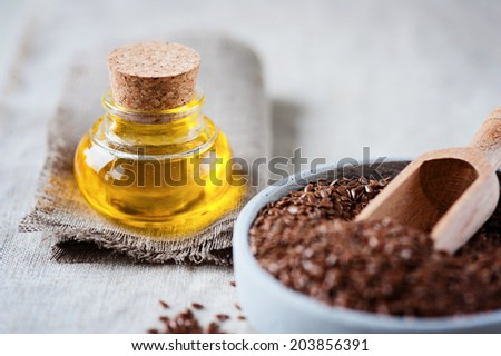 linseed oil - stock photo
