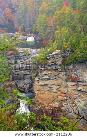 Linville Falls - stock photo