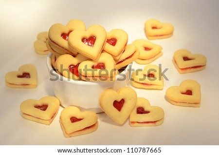 Linzer confection - stock photo