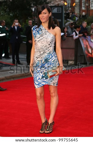 Linzi Stoppard arriving for the Titanic 3D film premiere, Royal Albert Hall, London. 27/03/2012 Picture by: Alexandra Glen / Featureflash - stock photo