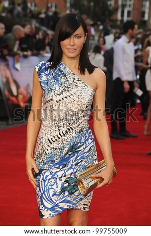 "Linzi Stoppard arriving for the ""Titanic 3D"" premiere at the Royal Albert Hall, Kensington, London. 27/03/2012 Picture by: Steve Vas / Featureflash"