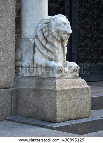 Lion Architectural Sculpture - stock photo