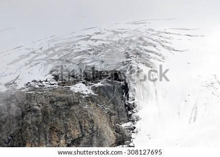 Lion glacier, Pennine Alps, Aosta Valley - stock photo