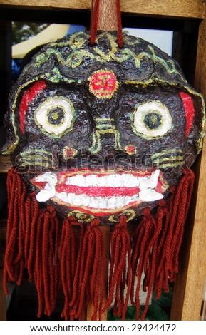 lion head mask - stock photo