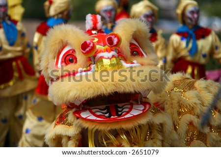Lion in Chinese New Year Parade - stock photo