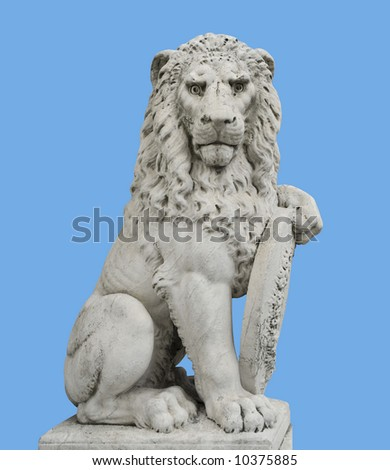 Lion sculpture,Florence,Italy November2006 - stock photo