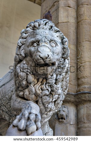 Lion sculpture in Florence