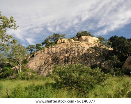 Lionsrock at Kruger Nationalpark South Africa - stock photo