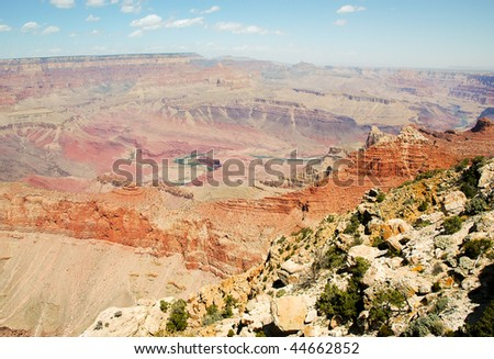 Lipan Point overlook - stock photo