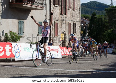 "LIPPIANO, PERUGIA, ITALY - JULY 31: Various Cyclists during the 41th ""Trofeo Tosco Umbro"" on July 31, 2010 in Lippiano, Perugia, Italy"