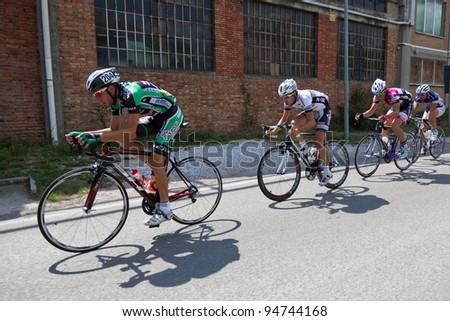 "LIPPIANO, PERUGIA, ITALY - JULY 30: Various Cyclists during the 42th ""Trofeo Tosco Umbro"" on July 30, 2011 in Lippiano, Perugia, Italy"