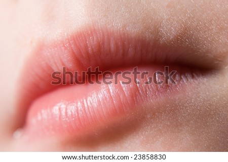 lips closeup - stock photo