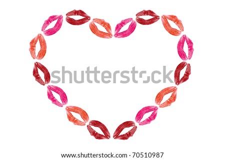 lips in a shape of heart - stock photo
