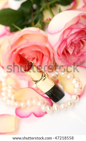 Lipstick and roses