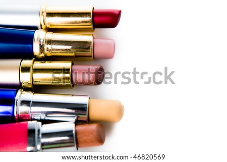 lipstick on a white background
